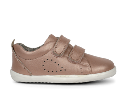 Bobux Toddler Grass Court Leather Trainer (Rose Gold)
